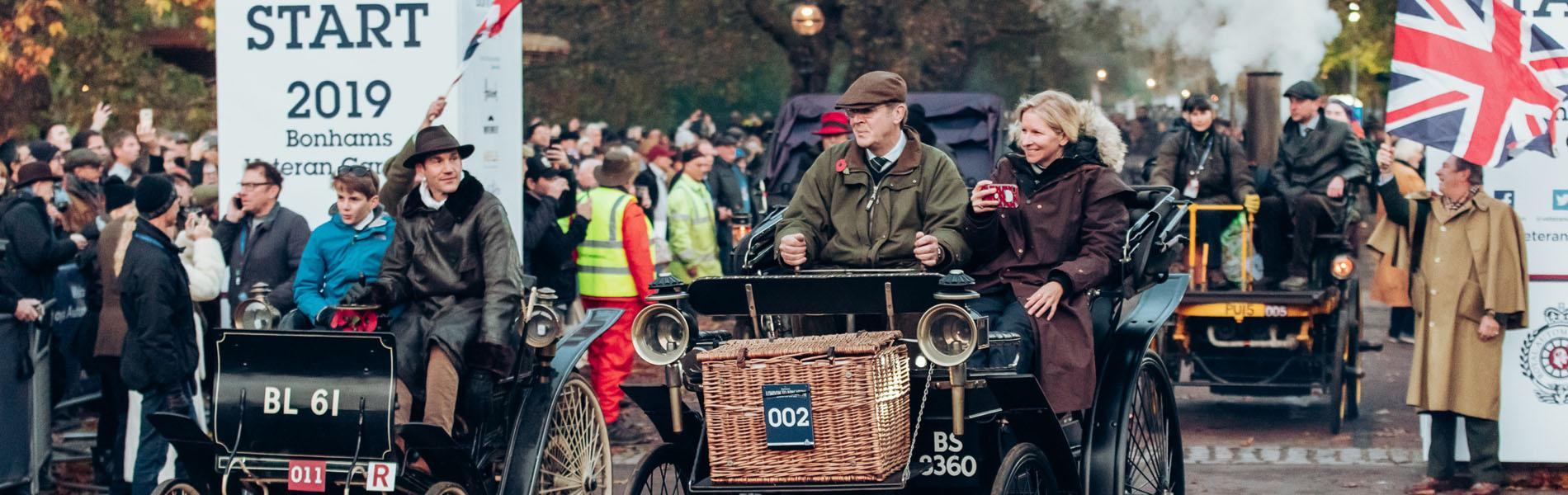 Veterans charm huge wayside crowds on historic route to Brighton